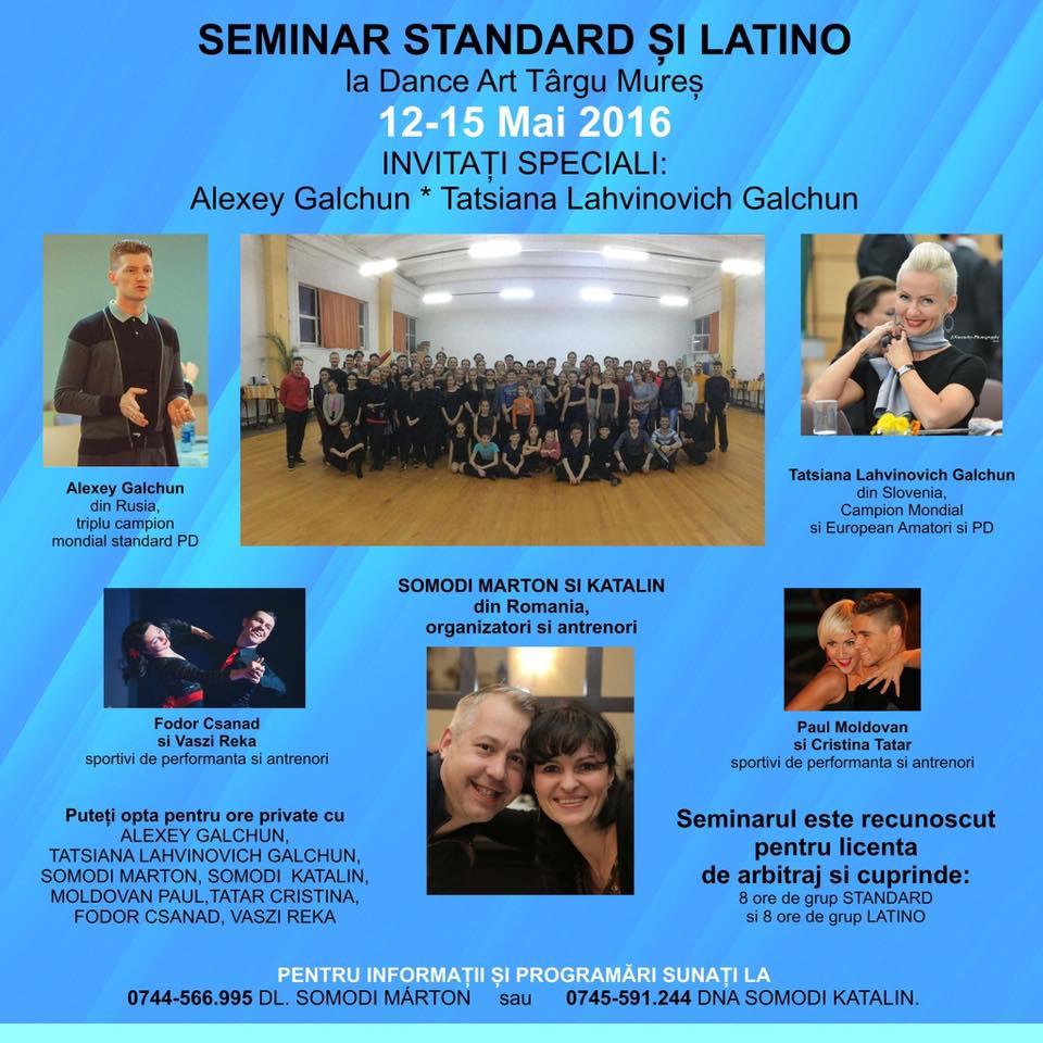seminar standard si latino targu mures DanceArt 12-15 mai 2016