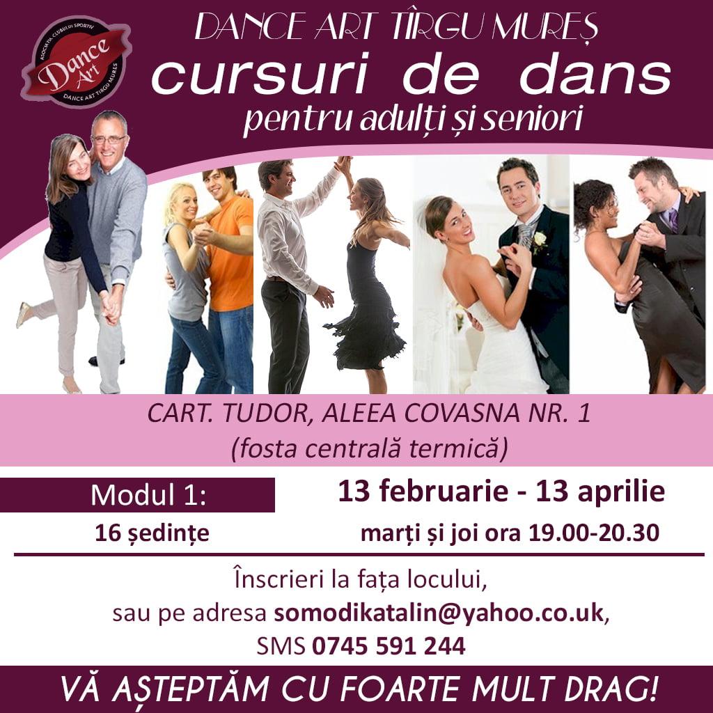 cursuri de dans pentru adulti si seniori 2018 organizat de DanceArt Targu Mures